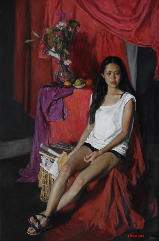 《少女与信》190×130cm_2013年