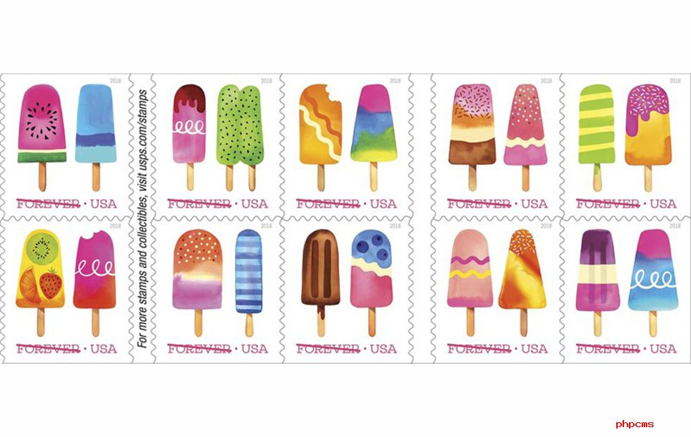 """美邮政局推出首批""""擦擦嗅""""邮票"""