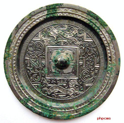 四神博局纹铜镜