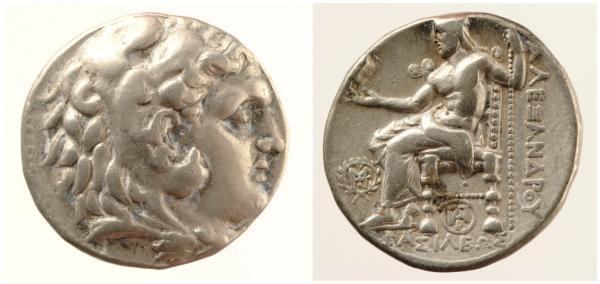 马其顿王亚历山大三世4德拉克马银币欣赏