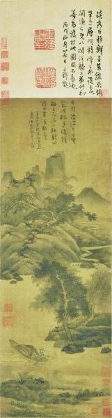 吴镇《渔父图》收藏鉴赏